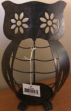 Yankee Candle Brown Metal Owl Jar Candle Holder Online & Catalog Exclusive New