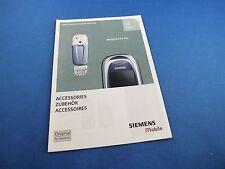 ORIGINALE Siemens c65 cv65 c65 opuscolo catalogo istruzioni manuale d'uso