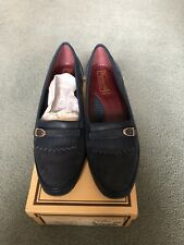 Barker Of Earls Barton Comfy Ladies Navy Shoes 5 New