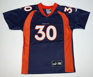 Vintage 90s Terrell Davis Denver Broncos Puma Jersey Size Youth M