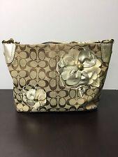 Coach Tote Shoulder Handbag Size Medium Canvas & Leather 16879 USED Pls. Read