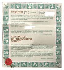 Garanzia Rolex Originale Cartacea Lettera P Senza Nome E Data No Prezzo Riserva!