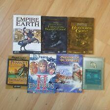 7x PC Instruction Manuals - Star Wars Baldur's Gate Age Of Empires II Earth