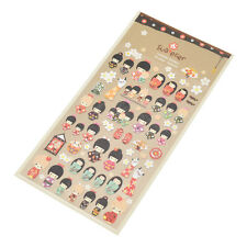 Japanese Kimono Doll Stickers DIY Planner Diary Scrapbooking Sticker Traditional