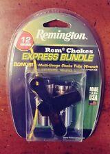 Remington Rem Chokes 12Ga Express Bundle Full & Imp Cylinder & Bonus Wrench New