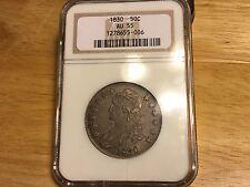 1830 Capped Bust Half Dollar NGC AU 55 NICE TONING NO RESERVE  ORIGINAL!!