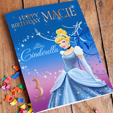 CINDERELLA DISNEY PRINCESS  Personalised Birthday Card! FREE 1st Class Shipping!