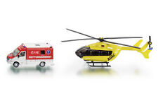 SUPER SIKU 1850 Rescue Service Set - Ambulance Helicopter 1:87 Die Cast RETIRED