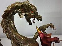 Bronze Serpent Reptile Fire Medieval Monster Sculpture Statue Art Deco Figure