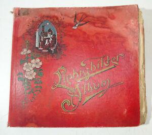 Vecchio Liebig Album di Raccolta Immagini davanti A 1945 Con da Collezione