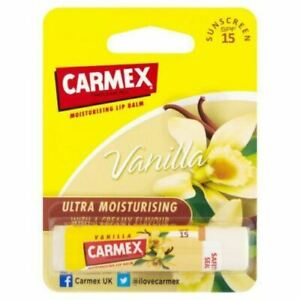 Carmex Vanilla Original Click Stick Ultra Moisturizing Dry & Chapped Lip Balm