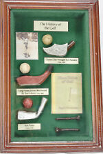 Golf Shadow Box - Golfing history clubs balls pictures