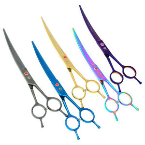 """7.0"""" Pet Grooming Cutting Scissors Dog Curved Shears for Trimming Animal LZS0596"""