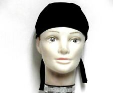 Solid Black Skull Cap 100% Cotton 87-66 New Handmade one size fits most