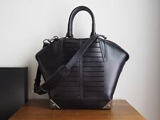 Alexander Wang Small Emile satchel in black with cuts & gunmetal color hardware