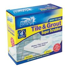 Tile & Grout Scrubber, pack of 4 super scrubbers, reusable, only needs water