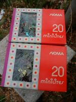 Lot of 2 Vintage Noma Christmas 40 Minilites Tinsel Lite Light Set Xmas Japan