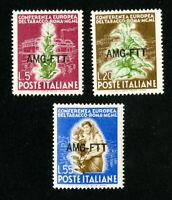 Trieste Stamps # 85-7 VF OG LH Set of 3 Scott Value $46.75