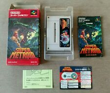 SUPER METROID SUPER FAMICOM SNES NTSC JAPAN COMPLETE