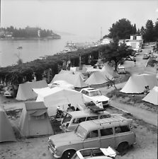 STRESA c. 1960 - Autos Camping  Isola Bella  Italie - Négatif 6 x 6 - ITAL 435