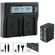 SK Akku für Sony NP-F970 6600mAh + Dual Charger NP-F750 | 1060386 90105 90302