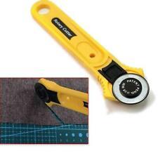 Fabrics Rotary Cutter Wheel Round Cut Stainless Steel Handle Tailor Scissors KS