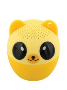 Bluetooth Speaker Bear Portable Mini and Remote Shutter Release Yellow 4.3x4.5cm
