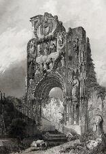 Burgos: ruinas del convento de las Carmelitas ruinas acero clave 1844