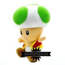 SUPER MARIO BROS. TOAD VERDE PELUCHE plush  fungo kart mushroom party green vert