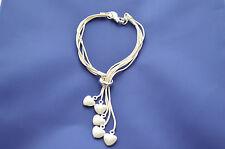 Bracelet Damenschmuck Designer Armband 5 Herzen 925 Sterling Silber Neu A.A01