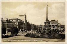 Leipzig Sajonia para 1933/45 viejos ak dt. Reich Augustusplatz alta casa de teatro