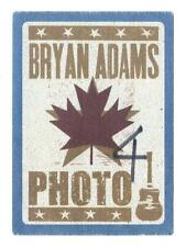 Bryan Adams - Konzert-Satin-Pass Photo 4 - Ahornblatt - schönes Sammlerstück