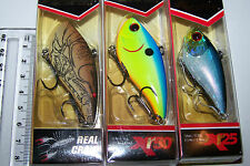 Fishing Lures Pair of XCALIBUR Xr50 & Xr25 Bass Cod Trout Perch Bream.