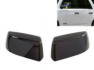 FOR 2015-2019 Chevy TAHOE/SUBURBAN GLOSS BLACK TOPHALF SIDE MIRROR COVER COVERS