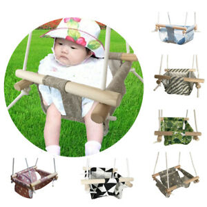 Toddler Baby Hanging Toy Seat Secure Canvas Hammock Chair Backrest Cushion Swing