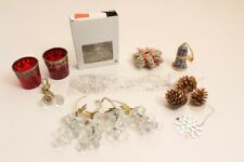 Christmas Decorations Table Pine Cone Angel Hair Lens