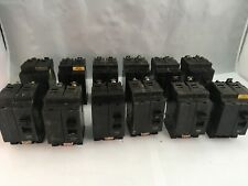 EHB24020 *LOT OF 12* SQUARE D 2POLE 20AMP 480V CIRCUIT BREAKER