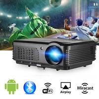5000 LUMEN HD LCD Android WiFi Beamer 1080P Heimkino Projektor Bluetooth TV HDMI
