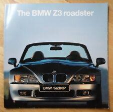 BMW Z3 ROADSTER orig 1995 UK Mkt Large Format Sales Brochure - 007 Goldeneye