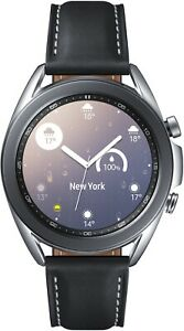 Samsung Galaxy Watch 3 SM-R850 mystic silber 41mm Android iOS Smartwatch Unisex