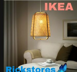 New KNIXHULT Neutral Pendant Hanging Lamp Bamboo IKEA 🔝 OFFER
