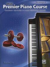 Alfred's Premier Piano Course Technique 5 Music Book