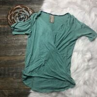 ANTHROPOLOGIE Top Small DOLAN Draped Teal