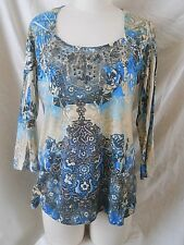 EMBLELLISED   FASHION BUG  WOMEN'S  TOP  SIZE  LARGE