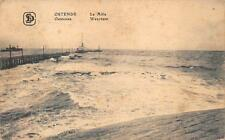 OSTENDE BELGIUM LE MULE WEERDAM SHIPS GERMANY MILITARY FELDPOST POSTCARD 1917 87