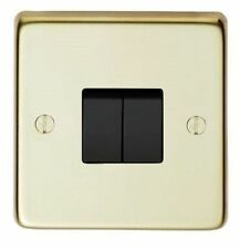 Polished Brass 2-Gang Home Electrical Switches