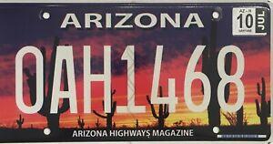 USA Number Licence Plate ARIZONA HIGHWAYS MAGAZINE