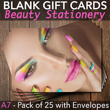 Gift Voucher Card Massage Beauty Nail Salons Hairdressers x25+FREE Envelopes