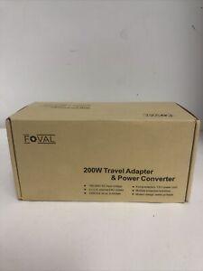Foval 200W Travel Adapter & Power Converter