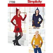 Simplicity 7799 d5 patrones de corte vestido señora jersey duendecillo Fantasy cuerda 30-38
